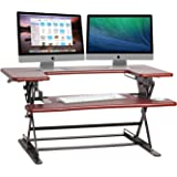 Halter ED-600 Preassembled Height Adjustable Desk Sit / Stand Elevating Desktop - Cherry