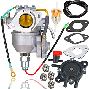 Fyange CV730 Carburetor+Fuel Pump for Kohler CV730 CV730S CV740 CV740S 25HP 27HP Engine Replaces Kohler 24853102-S 24-853-102-S Carb with Shut Off Valve/Fuel Line Kit