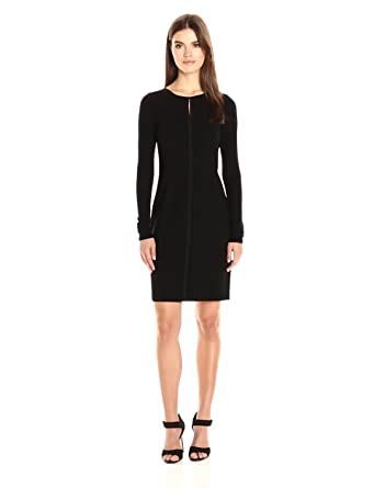 Elie Tahari Womens Iman Dress Black 14 At Amazon Womens Clothing