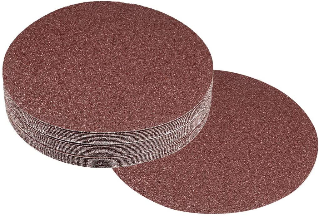 60 Grit Cyful 30 Pcs 7-Inch Sandpapers Sand Discs Hook and Loop Grinding Polishing for Random Orbit Sander