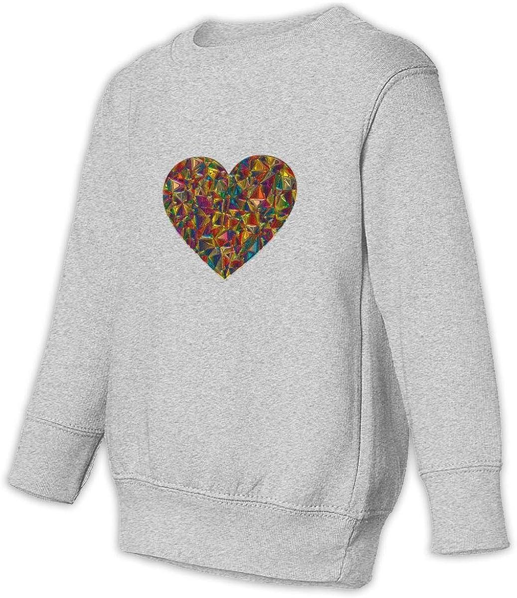 HsHdesign Children Long-Sleeve Art Glass Love Graphic Pullover for Spring//Autumn//Winter 2-6T