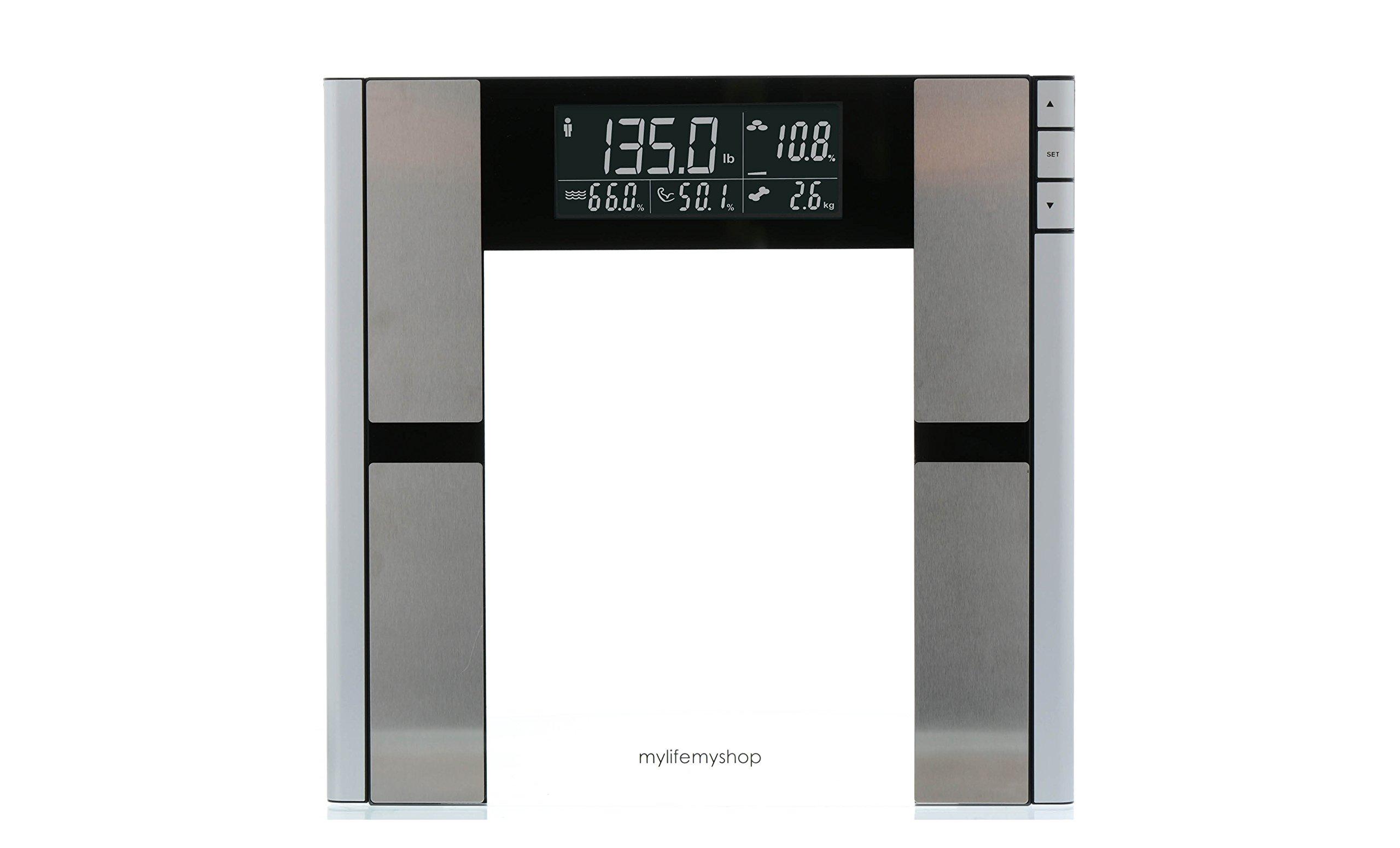 My Life My Shop Body Analyzer1 Digital Scale - Body Fat, Weight, Muscle/Bone Mass, Water Weight Tracker by My Life My Shop