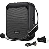 SHIDU Mini Amplificador de Voz Altavoz Bluetooth Portátil con Micrófono Inalámbrico UHF Auriculares 10W 1800mAh Sistema…
