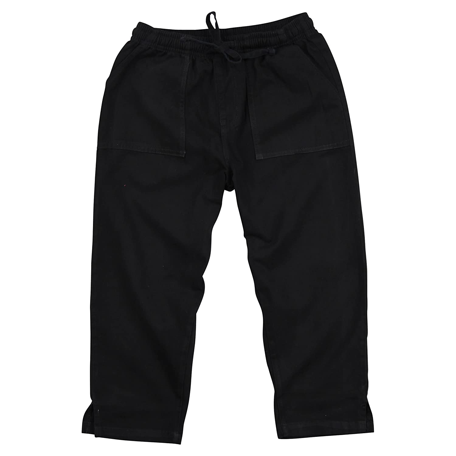 707a6762 Solid color capri pants are made of 100% Cotton, while the denim capris are  made of 95% Cotton / 5% Spandex Drawstring closure with an elastic  waistband ...
