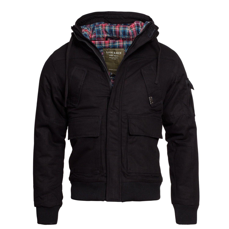 Young Rich &AMP, Lined Warm Winter Jacket Men's Parka Coat Jacket - 4003