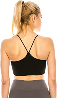 product image for Kurve Women's Shelf Bras Padded Cami with Removable Pads, UPF 50+ (Made in USA)