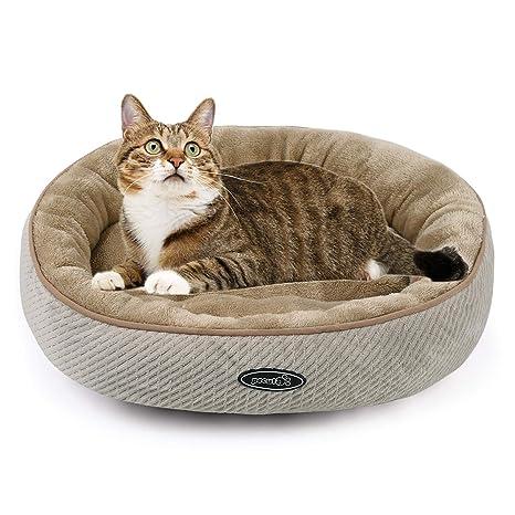 Pecute Cama para Gato Perro, Camas de Gatos Perros, Acolchado de Algodón PP, Suave y Cómodo,Tridimensional, Proteger mascotas vértebras cervicales, ...
