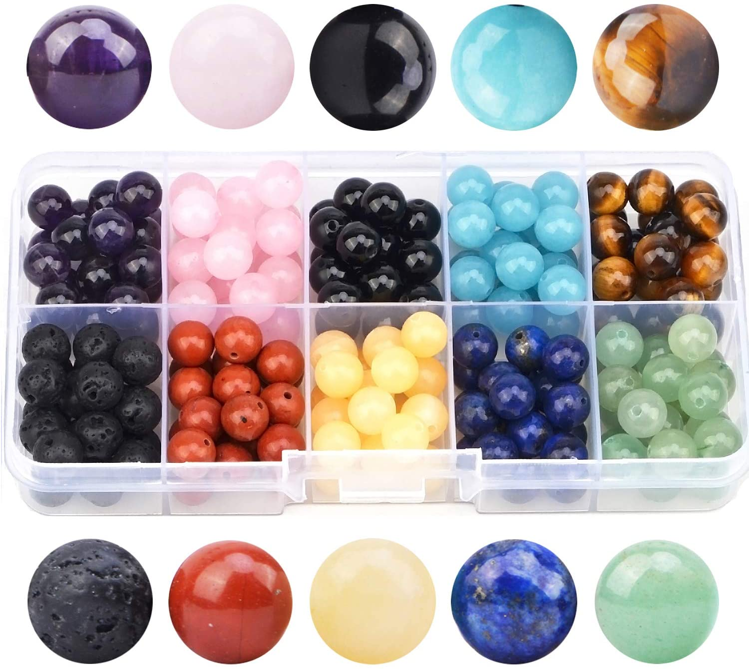 Natural All Mix Stones Faceted Pear Drop Gemstone Beads 6.5-8mm 8 Strand