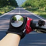 Wisamic Cycling Bicycle Bike Espejo retrovisor Protecciones para la muñeca Muñequeras Espejo retrovisor Negro