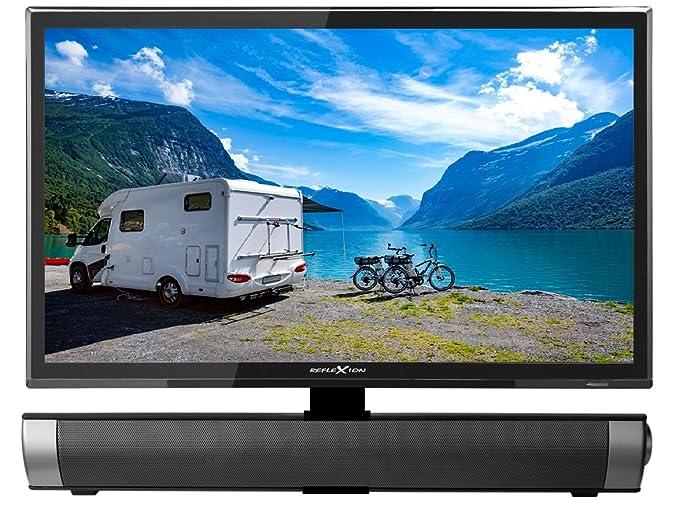 Reflexion LDDW19SB 19 Zoll Wide-Screen LED-TV mit Soundbar für Wohnmobile mit DVB-T2 HD, DVD-Player, Triple-Tuner und 12 Volt