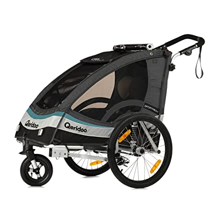 Qeridoo Sportrex1 - Carrito-remolque de bicicleta 2 en 1 ...