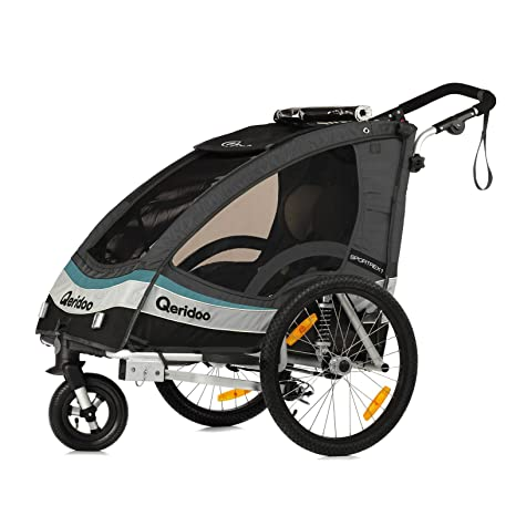 Qeridoo Sportrex1 - Carrito-remolque de bicicleta 2 en 1 para niños,