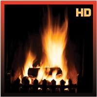 Fireplace Burning Wood HD
