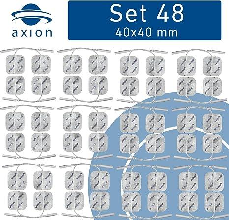 16 électrodes 40 x 40 mm Électrodes pour électrostimulation TENS EMS ...