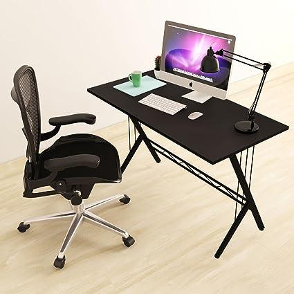Modern Design Computer Desk Durable Workstation For Office, Home Office,  Dorm Room, Black
