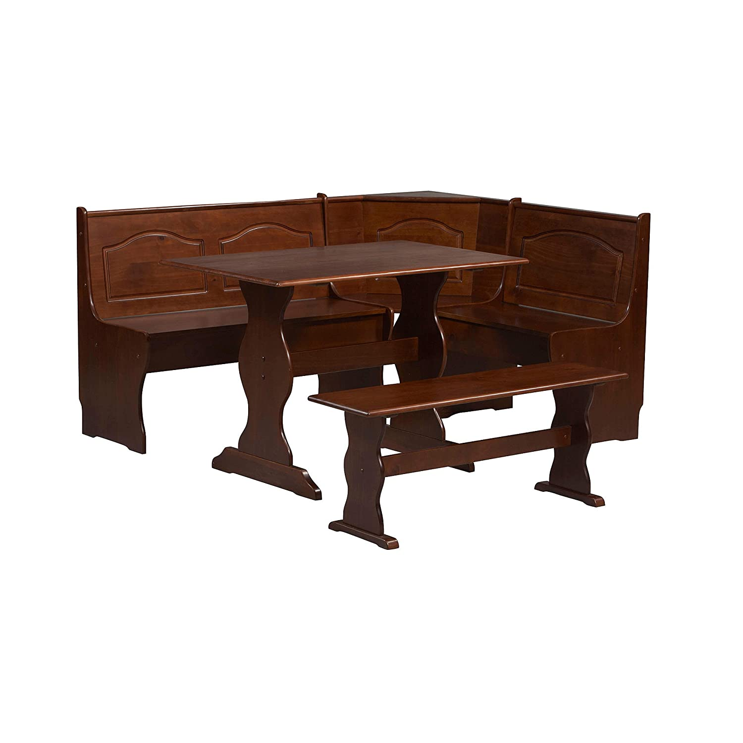 Amazon.com: Essential Home Walnut Emily Breakfast Nook: Kitchen U0026 Dining