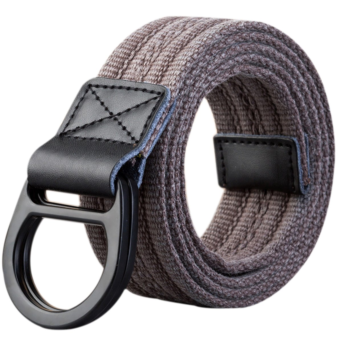 ITIEZY Men Canvas Web Belt Black D-ring Buckle Military 1 1 2 Father s Day  Gifts at Amazon Men s Clothing store  24753f11dc7