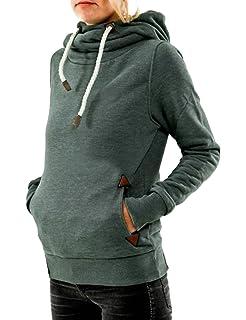 Cindeyar Damen Hoodie Pullover Kapuzenpullover Langarm Baumwoll Mischung  Sweatshirt Jacke Mantel Outwear 94fe34c300
