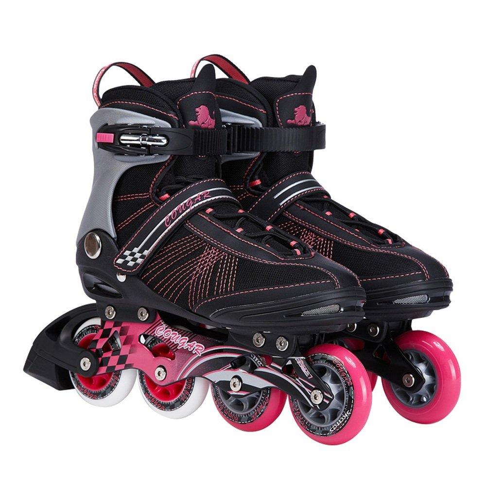 Vampsky クラシックローラースケートメンズレーシングスケートインラインスケートABEC-9ベアリングトラベル都市での大人用屋外使用 B07PMHH43J 41|Black+pink Black+pink 41