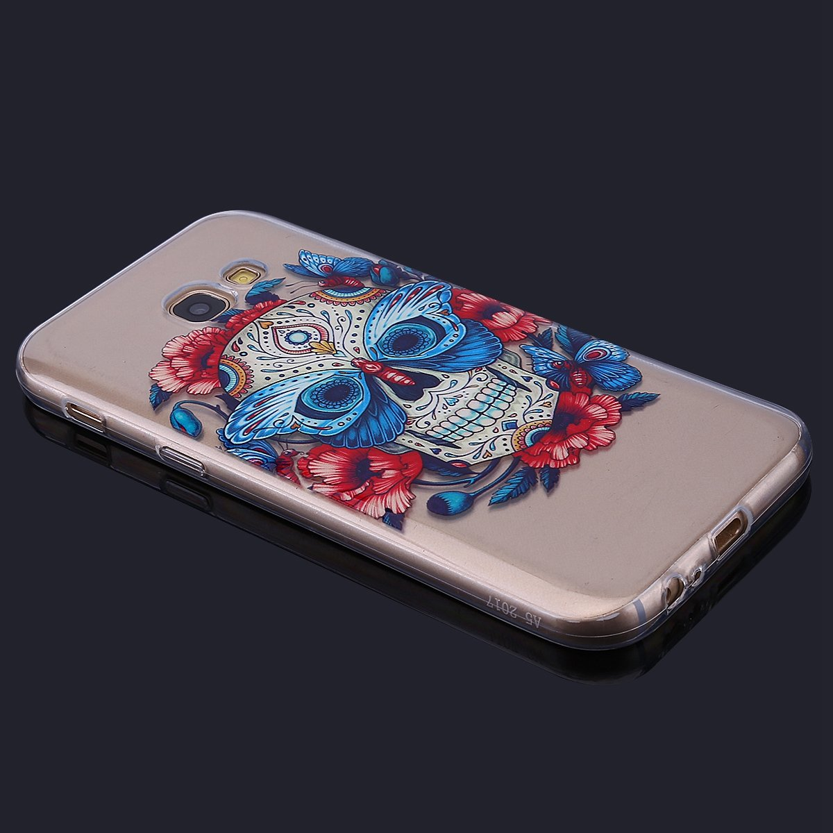 Étui Galaxy A5 2017 Surakey Samsung Galaxy A5 2017 Coque Transparente Silicone Gel TPU Souple Housse Etui de Protection Bumper avec Absorption de Choc et Anti-Scratch avec dessin Beau Plume fleur papillon Attrape-rêves Motif Etui de Coque Galaxy A5 2017