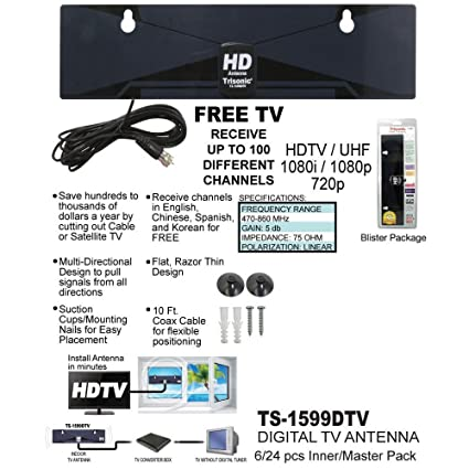Amazon com: Digital TV Antenna Free Channels HDTV DTV Box