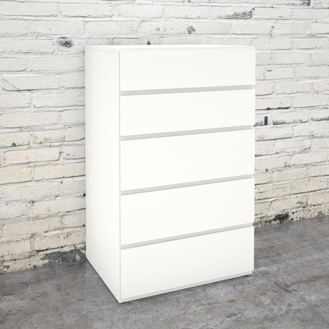 Nexera 221503 5-Drawer Chest, White