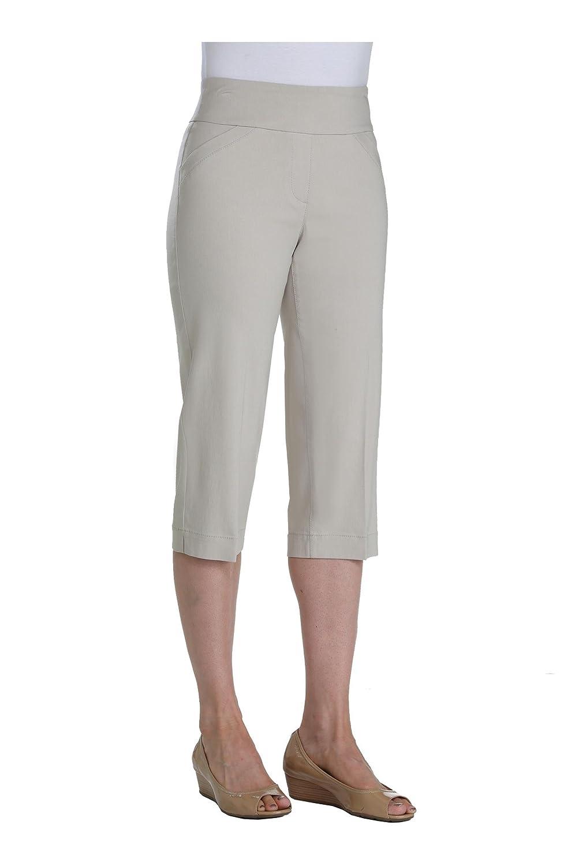Nygard Womens Petite Alia Pull-On Capri With Novelty Pockets