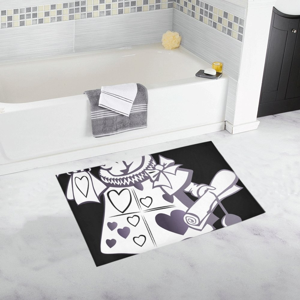 Alice In Wonderland Rabbit Story Animal Fantasy Custom Non-slip Bath Mat Rug Bath Doormat Floor Rug For Bathroom 20 X 32 Inch
