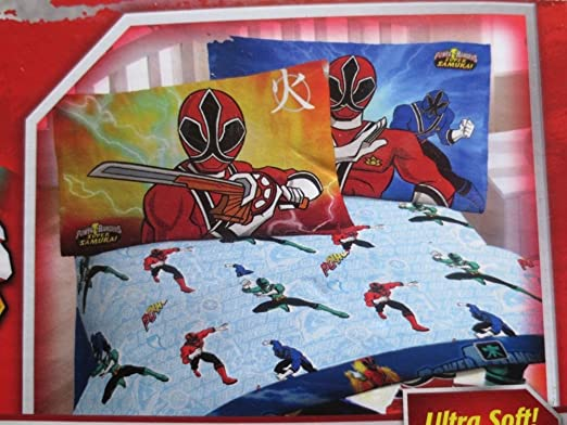 Amazon.com: Power Rangers Sheet Set, Twin: Home & Kitchen