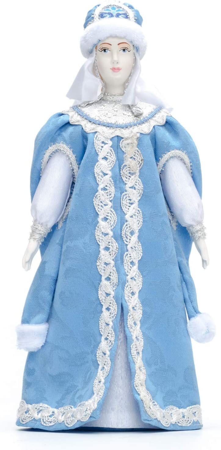 Snow Maiden Princess Hand Made Porcelain Doll - 10 Inches