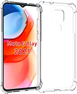 Tektide Case Compatible for Moto G Play 2021/Motorola G Play,[Invisible Armor] Xtreme Slim, Clear, Soft, Lightweight, Shock Absorbing TPU Bumper/Back Cover