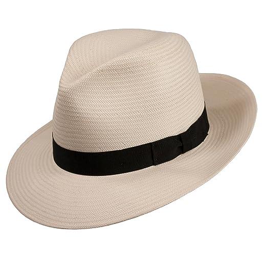 Levine Hat Co. Men s Millennium Panama Straw Fedora Hat at Amazon ... c838549e7dad