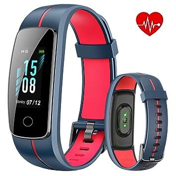 ISWIM Montre Connectée,Bracelet Connecté Fitness Tracker dActivité Montre Cardio Sport avec Cardiofréquencemètre