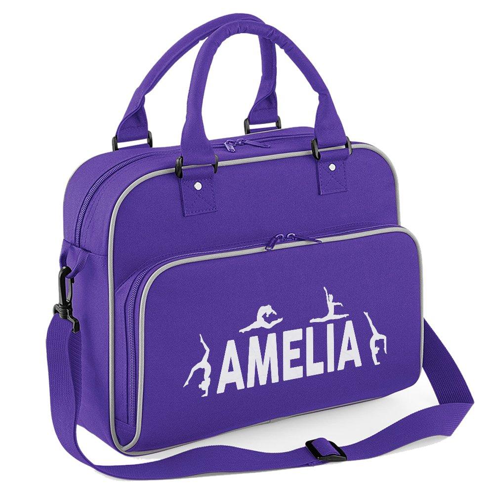 iClobber Girls Personalised Gymnastics Kids Dance Bag Sports Kit Bag-Black   Amazon.co.uk  Shoes   Bags db31e2c9fc7d9