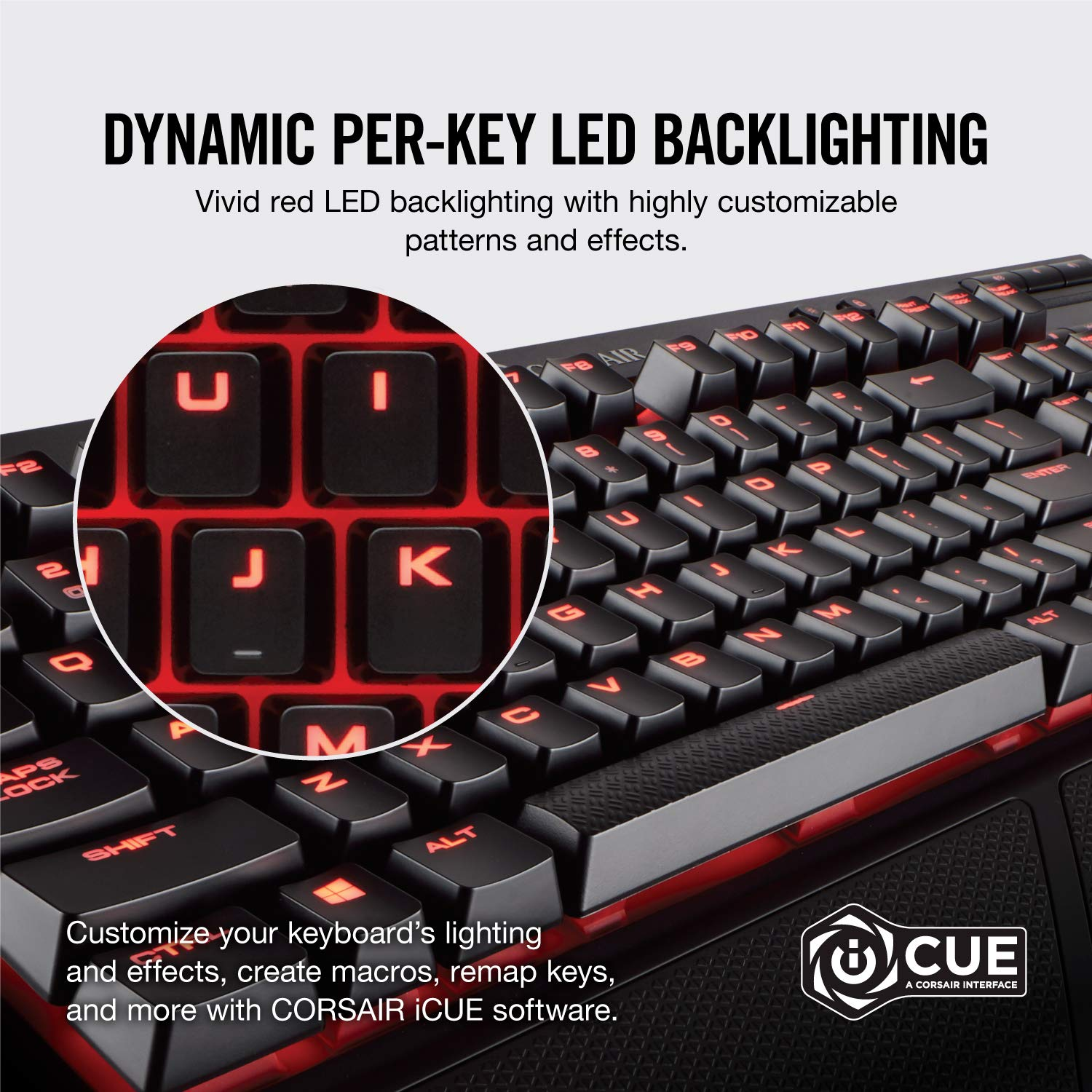 9a6971a268a Corsair K68 Red LED Mechanical Gaming Keyboard (Cherry MX Red Switches:  Linear and Fast, Red LED Backlighting, IP32 Dust and Spill Resistant, ...