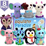 POKONBOY Jumbo Squishies Slow Rising, 8 Pack Animal Squishy Toys Cream Scented Squishies Pack Stress Relief Super Soft Squeeze Kawaii Cute Squishy Slow Rising for Kids