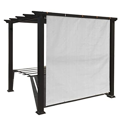 Alion Home Outdoor Sun Shade Privacy Panel with Grommets on 2 Sides for  Patio, Awning, Window, Custom to Order (5' x 8', Smoke Grey)