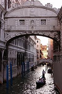 Gondola Under Bridge of Sighs Venice Italy Photo Photograph Cool Wall Decor Art Print Poster 12x18