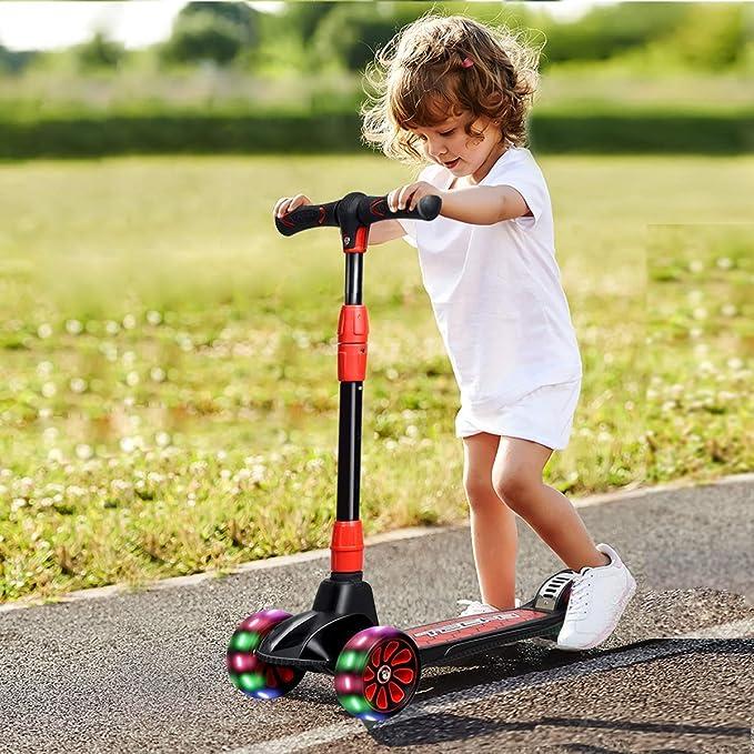 Amazon.com: Patinete plegable Costzon para niños, con 3 ...