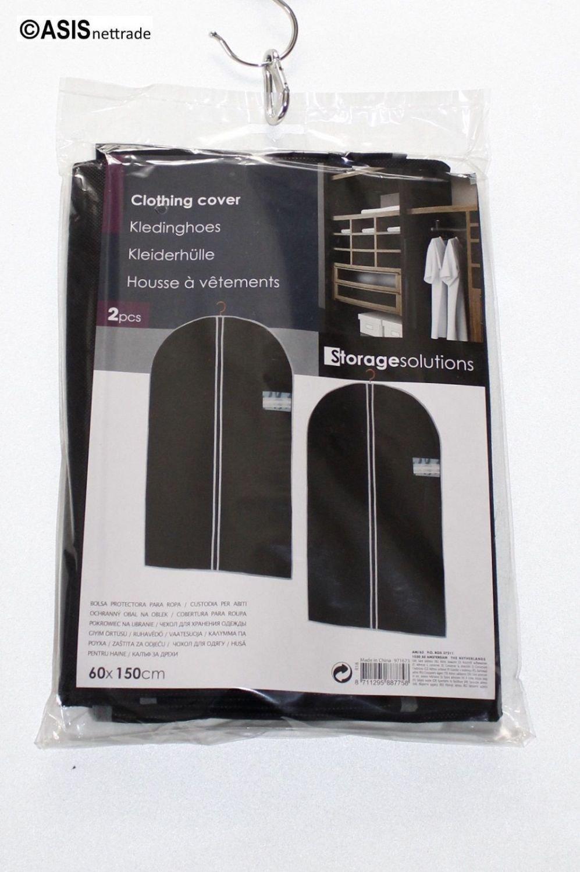 2St.//1Set Schwarz m Sichtfenster Kleiders/äcke 60 x 150 cm 2 St/ück