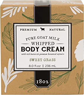 product image for Beekman 1802 - Whipped Body Cream - Sweet Grass - Goat Milk Body Butter, Daily Hydration for Dry Skin - Naturally Exfoliating Body Cream - Good for Sensitive Skin - Goat Milk Bodycare - 8 oz