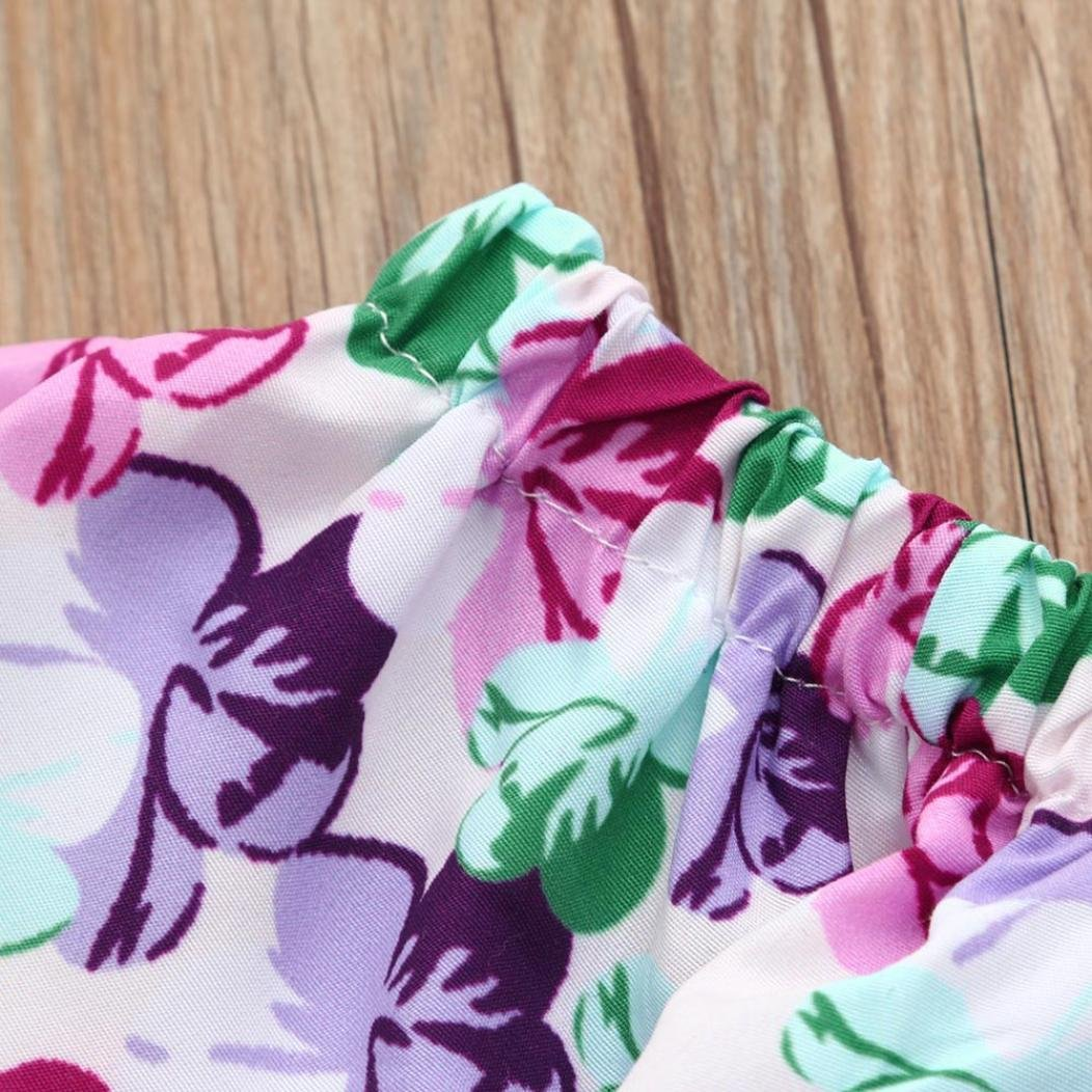 HOT Sales Your Princess Summer Sets,Jchen Age: 12-18 Months TM 3Pcs Newborn Infant Baby Girls Floral Print Off Shoulder Tops Shorts Outfits Summer Sets for 0-24 Months