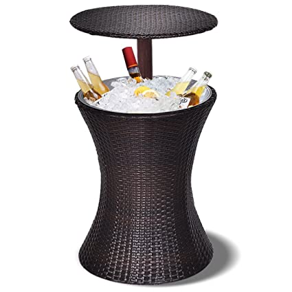 Finest Amazon.com : Giantex Adjustable Cool Bar Table Outdoor Patio  AG16