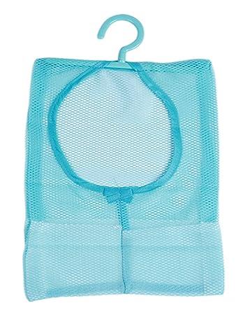 Lalang Multipurpose Clothespin Beutel mit Aufh/änger blau K/üche Badezimmer Aufbewahrungstasche h/ängender Speicher-Netztasche f/ür T/ür zu h/ängen