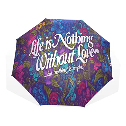 895715814315 Amazon.com: HangWang Umbrella Love is Nothing Without Travel Golf ...