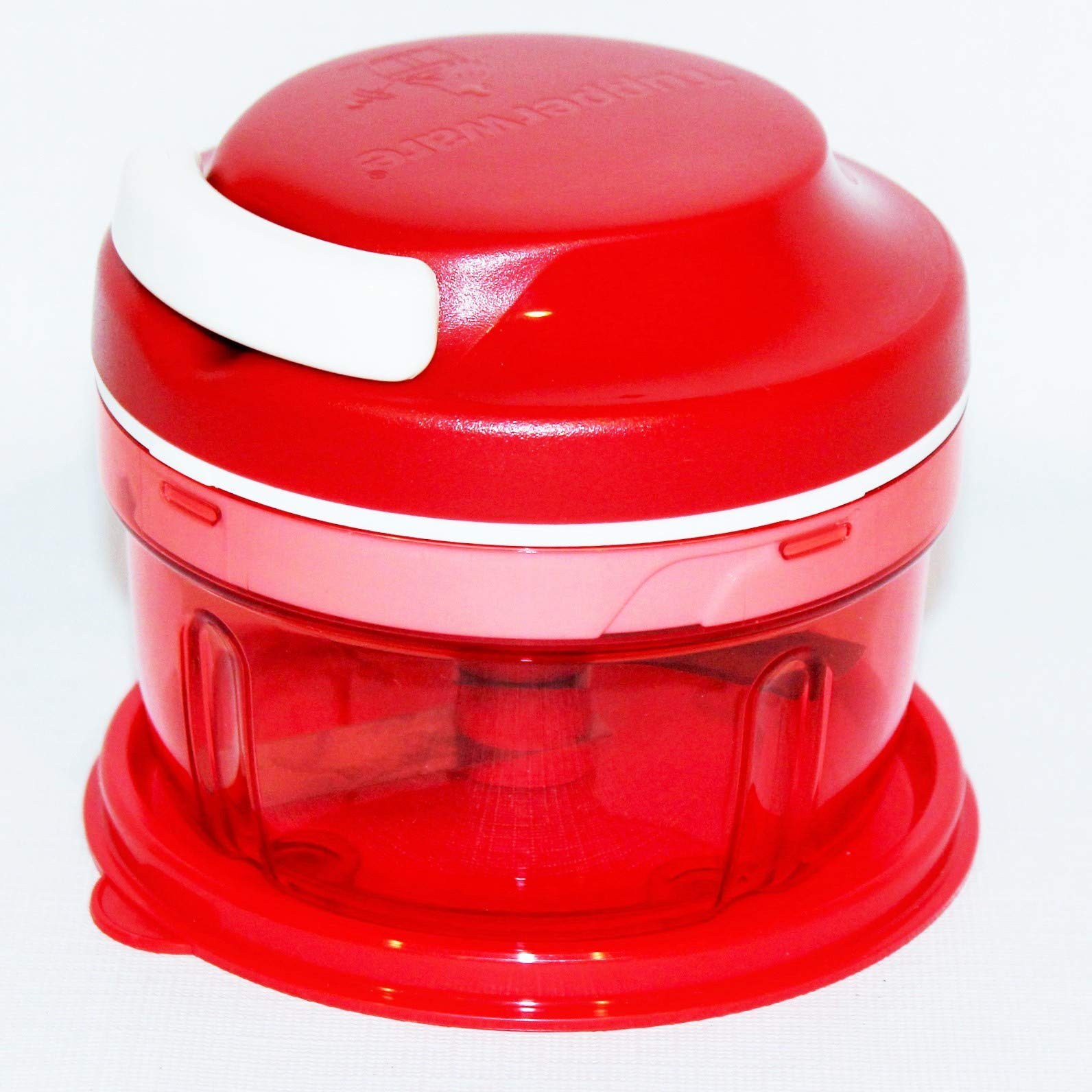 Tupperware Chop N Prep Chef Mini Chopper with Pull Cord Red by Tupperware