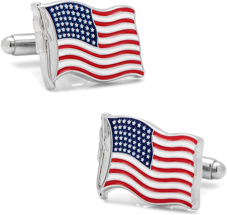 Cufflinks, Inc. Waving American Flag Cufflinks