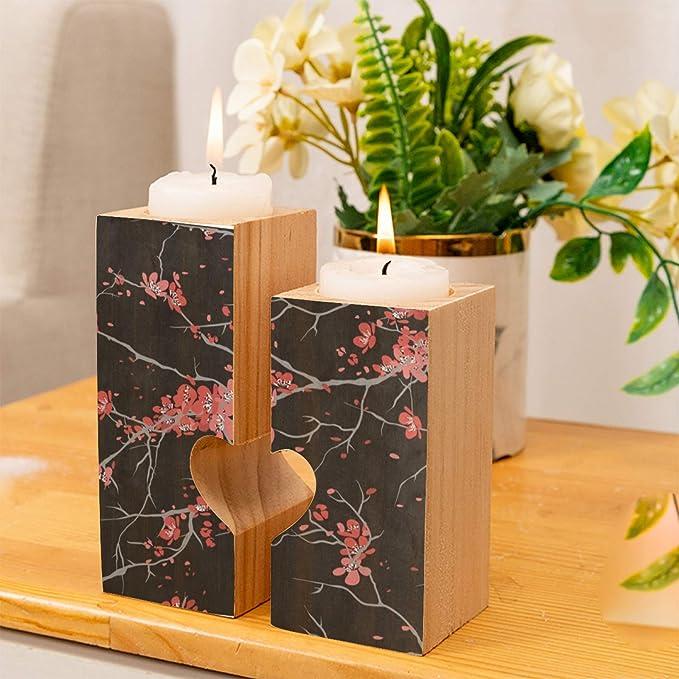Sakura Candle Holder  Glass Votive Candle Holder  Candleholder  Japanese  Tealight Candle Holder  Floral  Wedding Decor  Unique Gift