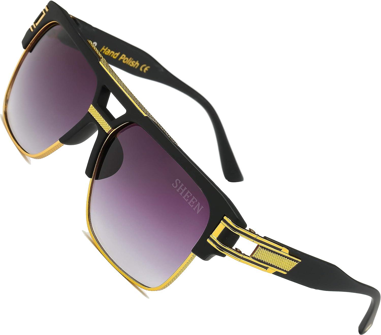 Faltsonnenbrille Aviator mit einem Etui Graue Gläser 85/%