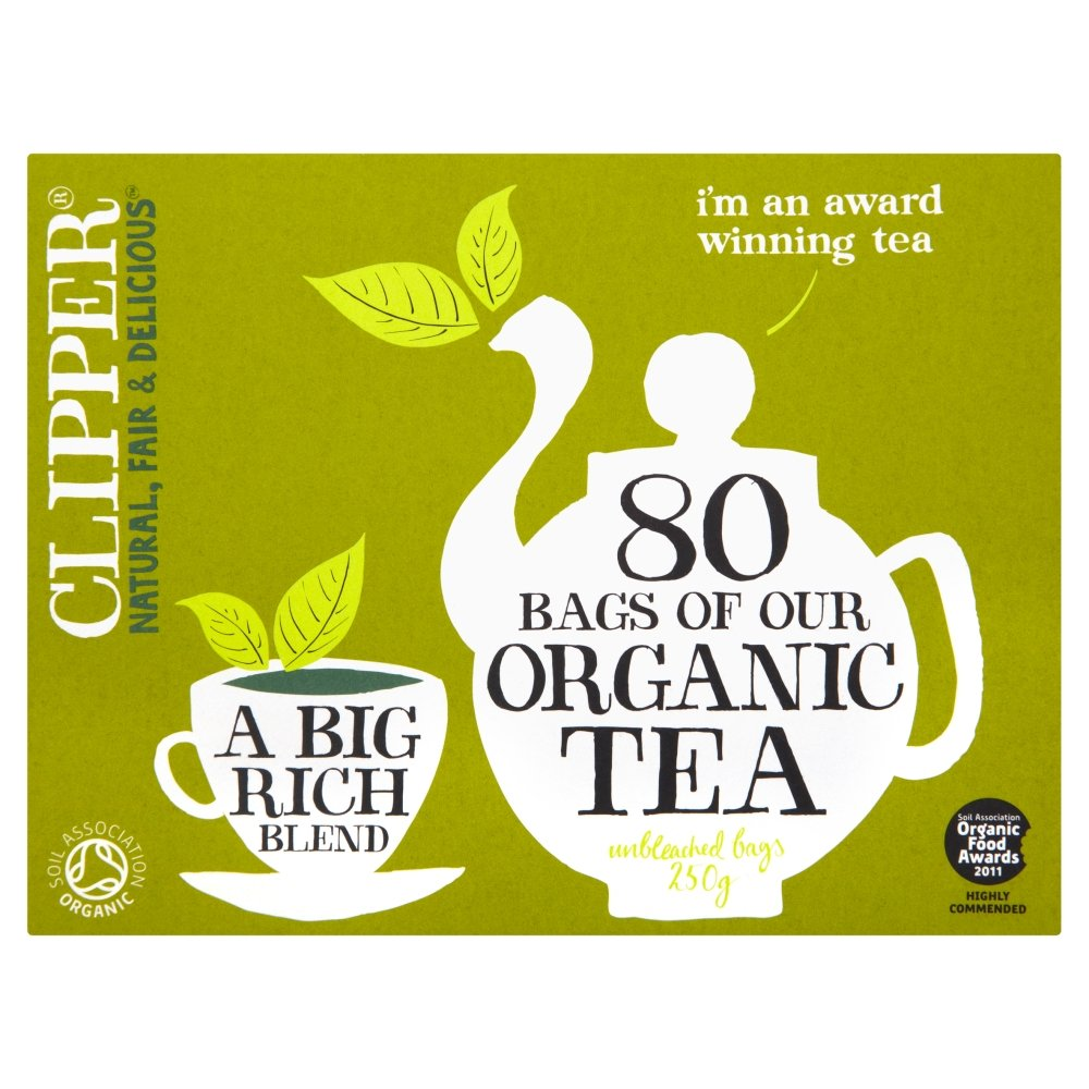 Clipper Teas - Everydays - Organic Tea - 80 Bags (Case of 6) by Clipper Tea
